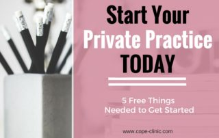 start your private practice today